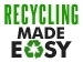 graphic with text recycling made easy