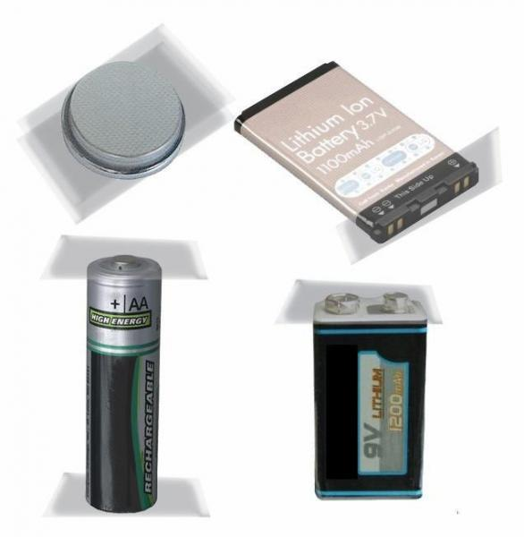 Examples of Batteries That Should Be Taped Before Bringing Ft. Totten for the Monthly Household Hazardous Waste/E-cycling Drop-off