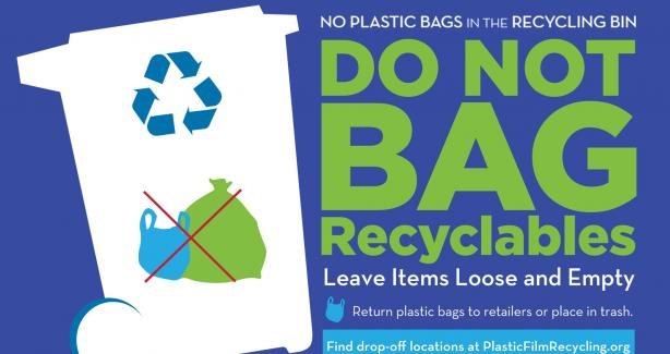 Do not bag recyclables logo
