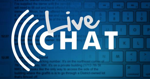 Live chat text over keyboard and transcript printout