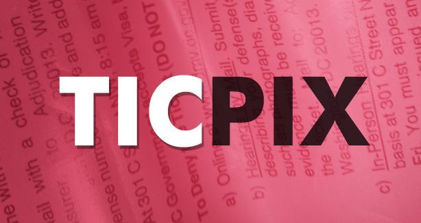 TICPIX on ticket background