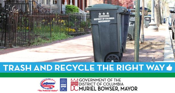 Trash and Recycle The Right Way Banner