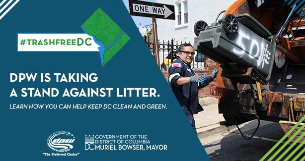DPW is Taking a stand against litter