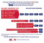 Holiday trash and recycling collection