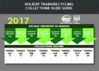 Holiday trash and recycling collection Picture