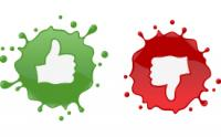 icon of thumbs up or thumbs down