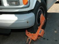 photo of car with clamp