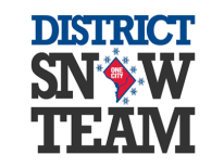 "District Snow Team logo with One-DC as ""O"" in Snow"