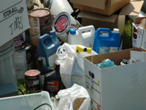 Collection of hazardous household waste