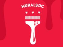 MuralDC logo with stylized paintbrush