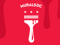 MuralDC logo with stylized paintbrush