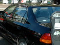 Car at a parking meter