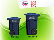 recycling containers on curbside