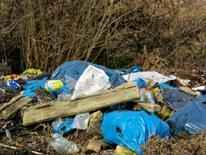 Photo of garbage on roadside